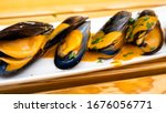 Cooked Mussels In Curry Sauce...