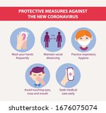 protective measures against the ... | Shutterstock .eps vector #1676075074
