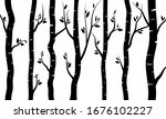 black branch tree or naked... | Shutterstock .eps vector #1676102227