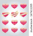 set of hearts   Shutterstock .eps vector #167611205