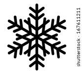 vector snowflake silhouette   Shutterstock .eps vector #167611211