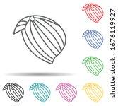 turban multi color set icon....