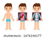 cute cartoon boy with x ray... | Shutterstock .eps vector #1676146177