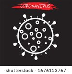 coronavirus virus vector... | Shutterstock .eps vector #1676153767