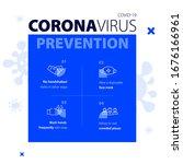 coronavirus prevention medical...   Shutterstock .eps vector #1676166961