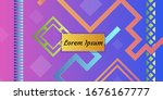 minimal cover design with... | Shutterstock .eps vector #1676167777