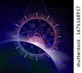 vector illustration of sacred...   Shutterstock .eps vector #1676168917