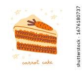 carrot cake color illustration. ...   Shutterstock .eps vector #1676180737