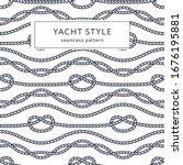 nautical rope seamless pattern. ...   Shutterstock .eps vector #1676195881