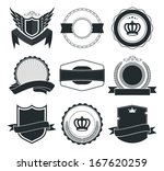 9 retro vintage badges and... | Shutterstock .eps vector #167620259
