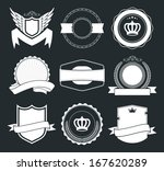 9 retro vintage badges and... | Shutterstock .eps vector #167620289