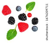 Fresh Mix  Berries Isolated On...