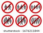 ban on gathering symbols.... | Shutterstock .eps vector #1676211844