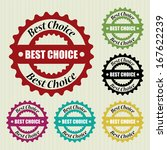 best choice retro and vintage...   Shutterstock . vector #167622239