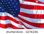 united states flag flapping in... | Shutterstock . vector #1676236