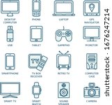 thin line icons set. icons for... | Shutterstock .eps vector #1676247214