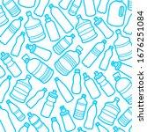 background bottles water.... | Shutterstock .eps vector #1676251084
