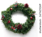 green christmas decoration on... | Shutterstock . vector #167625269