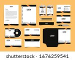 corporate identity set.... | Shutterstock .eps vector #1676259541