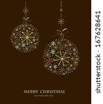 christmas doodles.vector... | Shutterstock .eps vector #167628641