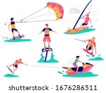 extreme water sports male... | Shutterstock .eps vector #1676286511