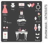 valentine's day infographics... | Shutterstock .eps vector #167631071
