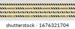 strips of quarantine. warning... | Shutterstock .eps vector #1676321704