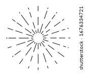 sun rays drawn symbol. sunlight ... | Shutterstock .eps vector #1676334721