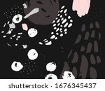 contemporary art pattern. brush ... | Shutterstock .eps vector #1676345437