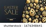 easter sale special offer... | Shutterstock .eps vector #1676348641