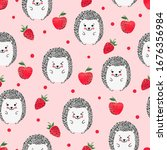 seamless vector pattern with... | Shutterstock .eps vector #1676356984