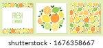 cute set of citrus fruits lemon ... | Shutterstock .eps vector #1676358667