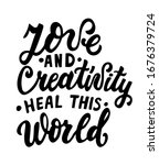 love and creativity heal this... | Shutterstock .eps vector #1676379724