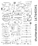 hand drawn set of design... | Shutterstock .eps vector #167640341
