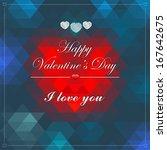 vector geometric mosaic heart... | Shutterstock .eps vector #167642675