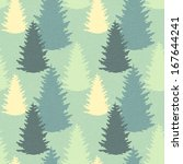seamless pattern with spruce... | Shutterstock .eps vector #167644241