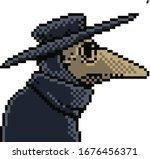 plague doctor pixel art... | Shutterstock .eps vector #1676456371