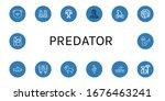 predator icon set. collection...   Shutterstock .eps vector #1676463241