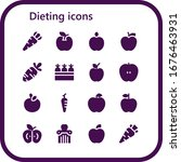 dieting icon set. 16 filled... | Shutterstock .eps vector #1676463931