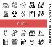 set of shell icons. such as...   Shutterstock .eps vector #1676465401