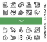 set of pay icons. such as bill  ... | Shutterstock .eps vector #1676465407