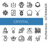 crystal icon set. collection of ... | Shutterstock .eps vector #1676466634