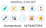 mineral icon set. 10 flat... | Shutterstock .eps vector #1676467294