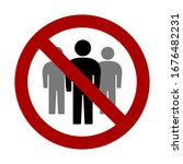 social distancing avoid crowds... | Shutterstock .eps vector #1676482231