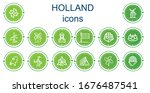 editable 14 holland icons for... | Shutterstock .eps vector #1676487541