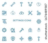 editable 22 settings icons for... | Shutterstock .eps vector #1676489587