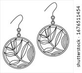 jewelry earrings fashion black...   Shutterstock .eps vector #1676511454