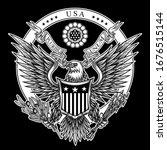 Usa Emblem. Vector Illustration ...