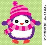 penguin vector | Shutterstock .eps vector #167651657