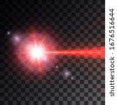 red laser beam. vector... | Shutterstock .eps vector #1676516644